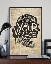 RBH speak your mind even if your voice shakes 24x36 Poster lifestyle-poster-2