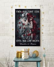 Custom From Our First Kiss Until Our Last Breath 24x36 Poster lifestyle-holiday-poster-3