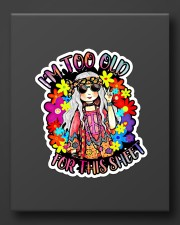 Hippie girl too old for this sheet Sticker - Single (Vertical) aos-sticker-single-vertical-lifestyle-front-08