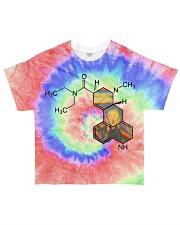 Tie dye LSD All-over T-Shirt front