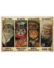 Pilot cat be strong when you are weak 17x11 Poster front