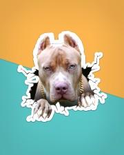 Funny pitbull breaking glass Sticker - Single (Vertical) aos-sticker-single-vertical-lifestyle-front-02