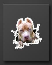 Funny pitbull breaking glass Sticker - Single (Vertical) aos-sticker-single-vertical-lifestyle-front-08