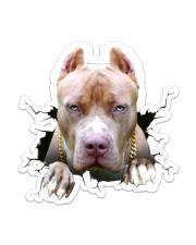 Funny pitbull breaking glass Sticker - Single (Vertical) front