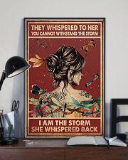 Dragonfly i am the storm 11x17 Poster lifestyle-poster-2
