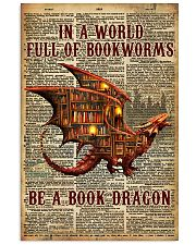 Be a book dragon 24x36 Poster front