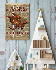 Be a book dragon 24x36 Poster lifestyle-holiday-poster-2