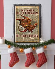 Be a book dragon 24x36 Poster lifestyle-holiday-poster-4