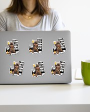 Camping bear shuh duh fuh cup Sticker - 6 pack (Vertical) aos-sticker-6-pack-vertical-lifestyle-front-21a