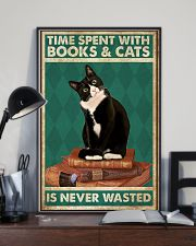 Time Spent With Books And Cats Is Never Wasted 24x36 Poster lifestyle-poster-2