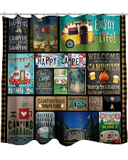 Camping Happy Shower Curtain tile