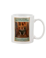 Rabbit read book and know things Mug tile