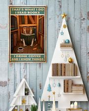 Rabbit read book and know things 24x36 Poster lifestyle-holiday-poster-2