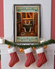 Rabbit read book and know things 24x36 Poster lifestyle-holiday-poster-4