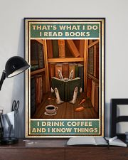 Rabbit read book and know things 24x36 Poster lifestyle-poster-2
