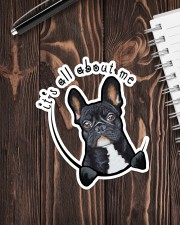 it's all about me frenchie Sticker - Single (Vertical) aos-sticker-single-vertical-lifestyle-front-05