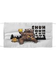 Bear shuh duh fuh cup Cloth face mask front