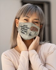 Never Underestimate An Old Lady Who Loves Books Cloth Face Mask - 3 Pack aos-face-mask-lifestyle-17