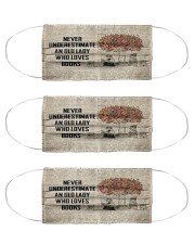 Never Underestimate An Old Lady Who Loves Books Cloth Face Mask - 3 Pack front