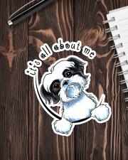 it's all about me shihtzu Sticker - Single (Vertical) aos-sticker-single-vertical-lifestyle-front-05