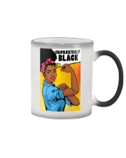Unapologetically Black Color Changing Mug tile