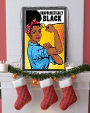 Unapologetically Black 24x36 Poster lifestyle-holiday-poster-4