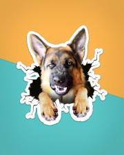 Funny german shepherd breaking glass Sticker - Single (Vertical) aos-sticker-single-vertical-lifestyle-front-02