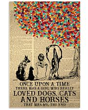 Once Upon A Time Girl Dogs Cats Horses 24x36 Poster front