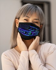 Police back the blue Cloth Face Mask - 3 Pack aos-face-mask-lifestyle-17