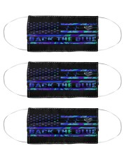 Police back the blue Cloth Face Mask - 3 Pack front