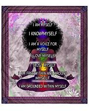 "Black woman meditation Quilt 70""x80"" - Queen front"