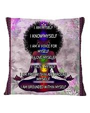 Black woman meditation Square Pillowcase tile