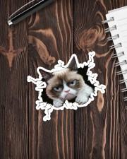 grumpy cat breaking glass Sticker - Single (Vertical) aos-sticker-single-vertical-lifestyle-front-05
