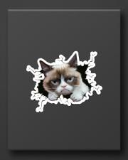grumpy cat breaking glass Sticker - Single (Vertical) aos-sticker-single-vertical-lifestyle-front-08