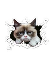 grumpy cat breaking glass Sticker - Single (Vertical) front