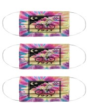 Bicycle day 1943 tie dye Cloth Face Mask - 3 Pack front