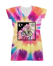 1943 Hofmann Bicycle Day Take A Trip All-Over Dress tile
