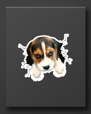 Funny beagle breaking glass Sticker - Single (Vertical) aos-sticker-single-vertical-lifestyle-front-08