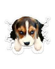 Funny beagle breaking glass Sticker - Single (Vertical) front
