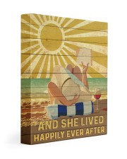 Reading And She Lived Happily Ever After 11x14 Gallery Wrapped Canvas Prints front