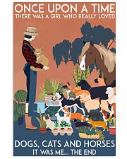 Girl Loved Cats Dogs and Horses 24x36 Poster front