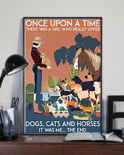 Girl Loved Cats Dogs and Horses 24x36 Poster lifestyle-poster-2