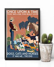 Girl Loved Cats Dogs and Horses 24x36 Poster lifestyle-poster-8