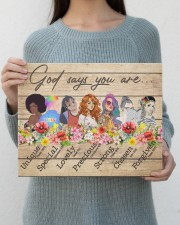 God Says You Are 14x11 Gallery Wrapped Canvas Prints aos-canvas-pgw-14x11-lifestyle-front-28