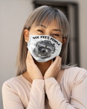 Raccoon Six Feet People Cloth Face Mask - 3 Pack aos-face-mask-lifestyle-17