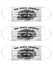 Raccoon Six Feet People Cloth Face Mask - 3 Pack front