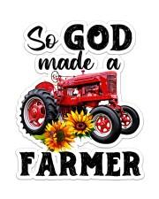 So god made a farmer Sticker - Single (Vertical) front
