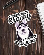 Husky mood cranky Sticker - Single (Vertical) aos-sticker-single-vertical-lifestyle-front-05