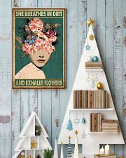 She breathes in dirt and exhales flowers 11x17 Poster lifestyle-holiday-poster-2