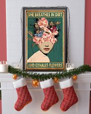 She breathes in dirt and exhales flowers 11x17 Poster lifestyle-holiday-poster-4